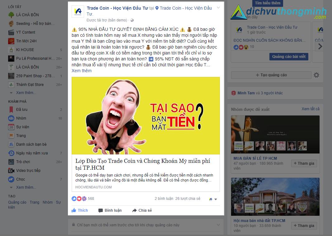 Chạy quảng cáo Facebook - 2