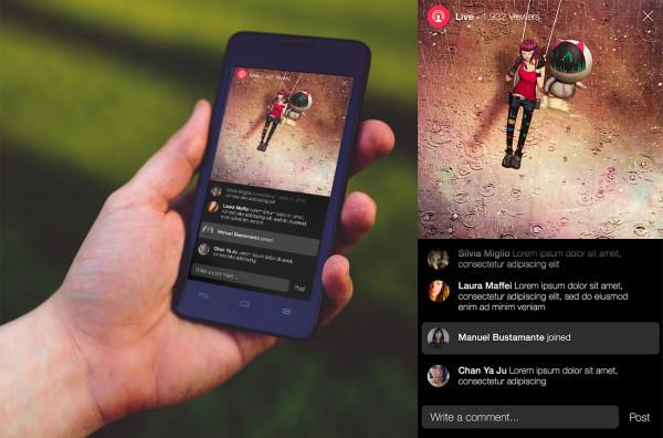 Người xem livestream facebook trên điện thoại