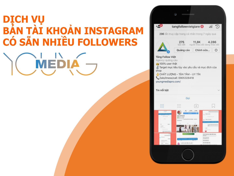 bán tài khoản instagram nhiều followers giá rẻ