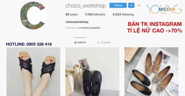 bán-tài-khoản-instagram-tỉ-lệ-nữ-cao